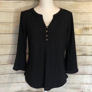 Black Dana Buckman blouse